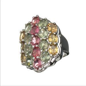 Multi Precious Gemstone Ring